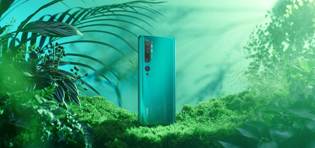 Xiaomi Mi Note 10 Aurora Green